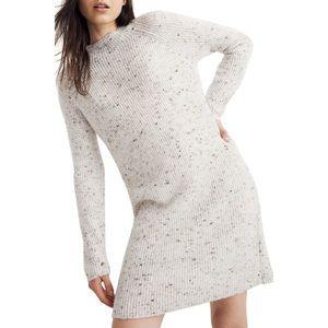Madewell Northfield Donegal MockNeck Sweater Dress